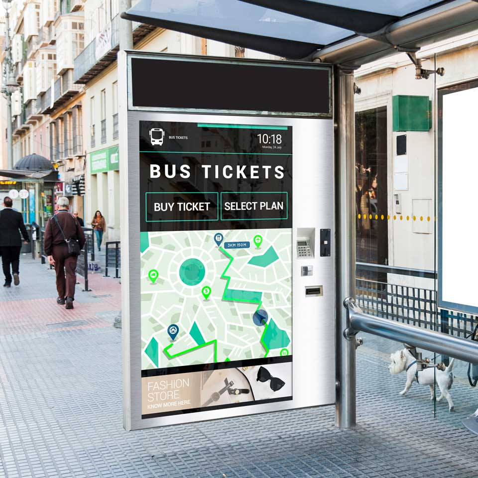 Ticketing and Self Service Kiosks for Buses advantages