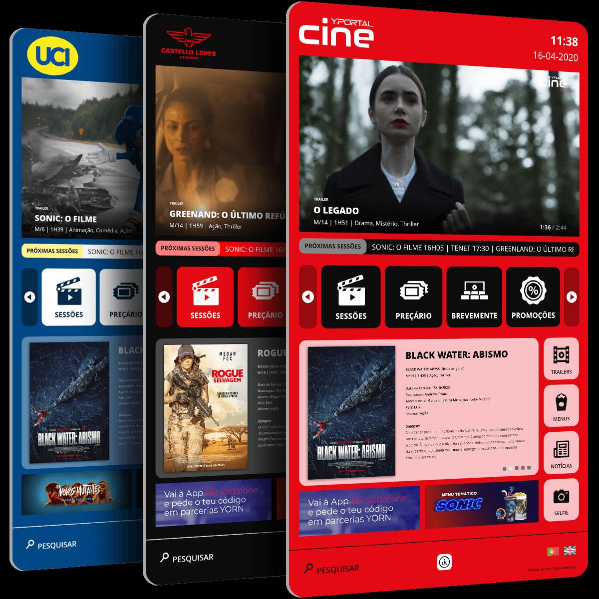 Cartaz Digital   Cinemas PARTTEAM & OEMKIOSKS
