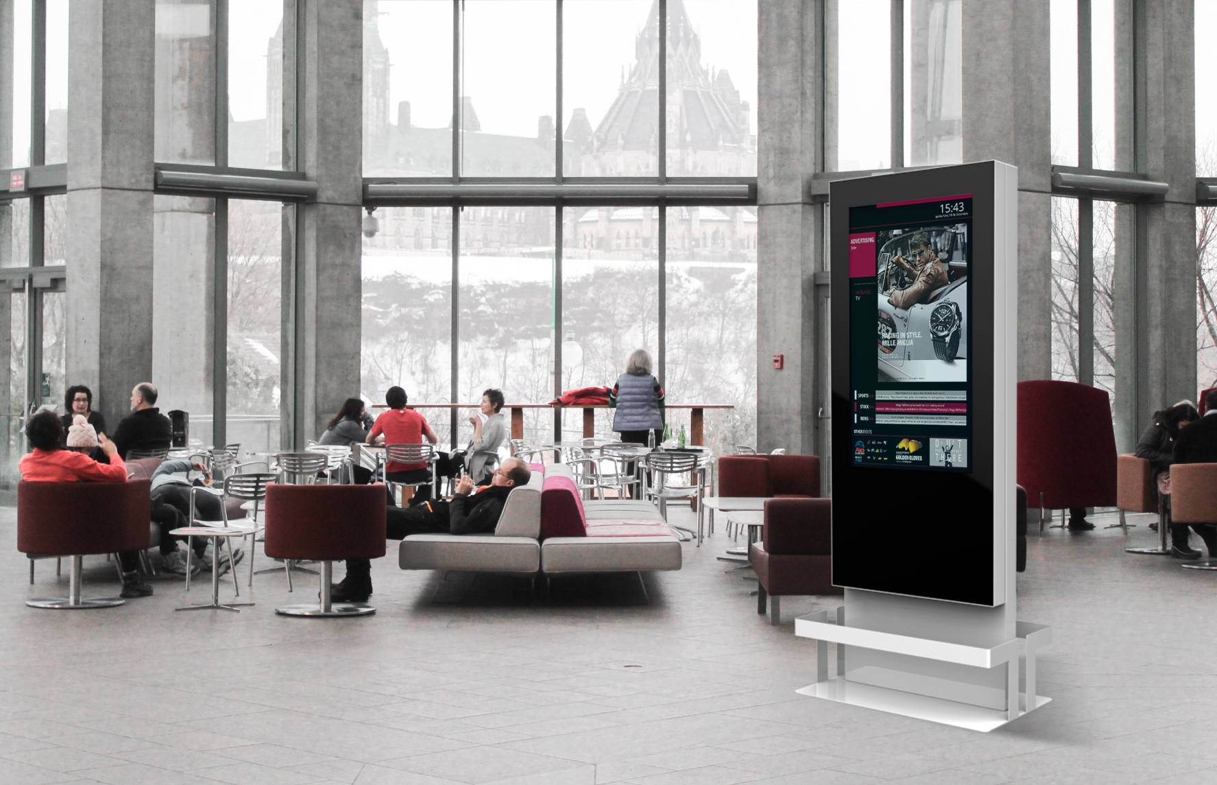Technology for Coworking Spaces by PARTTEAM & OEMKIOSKS