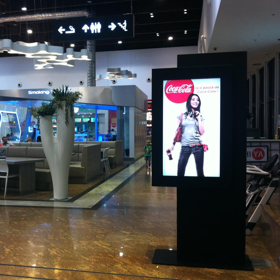 wings shopping digital signage by PARTTEAM
