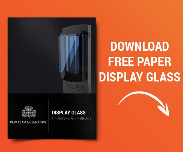 Paper Display Glass by PARTTEAM & OEMKIOSKS