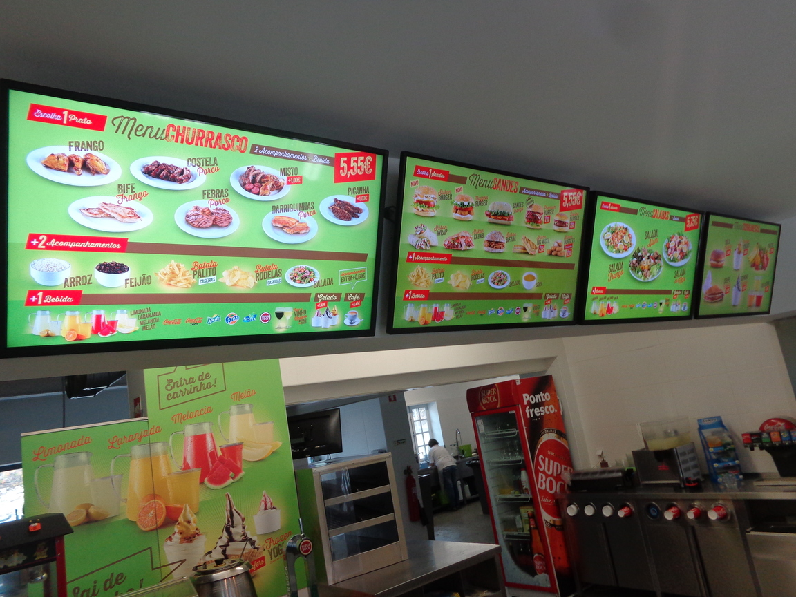 Displays and Video Walls - Menu Boards