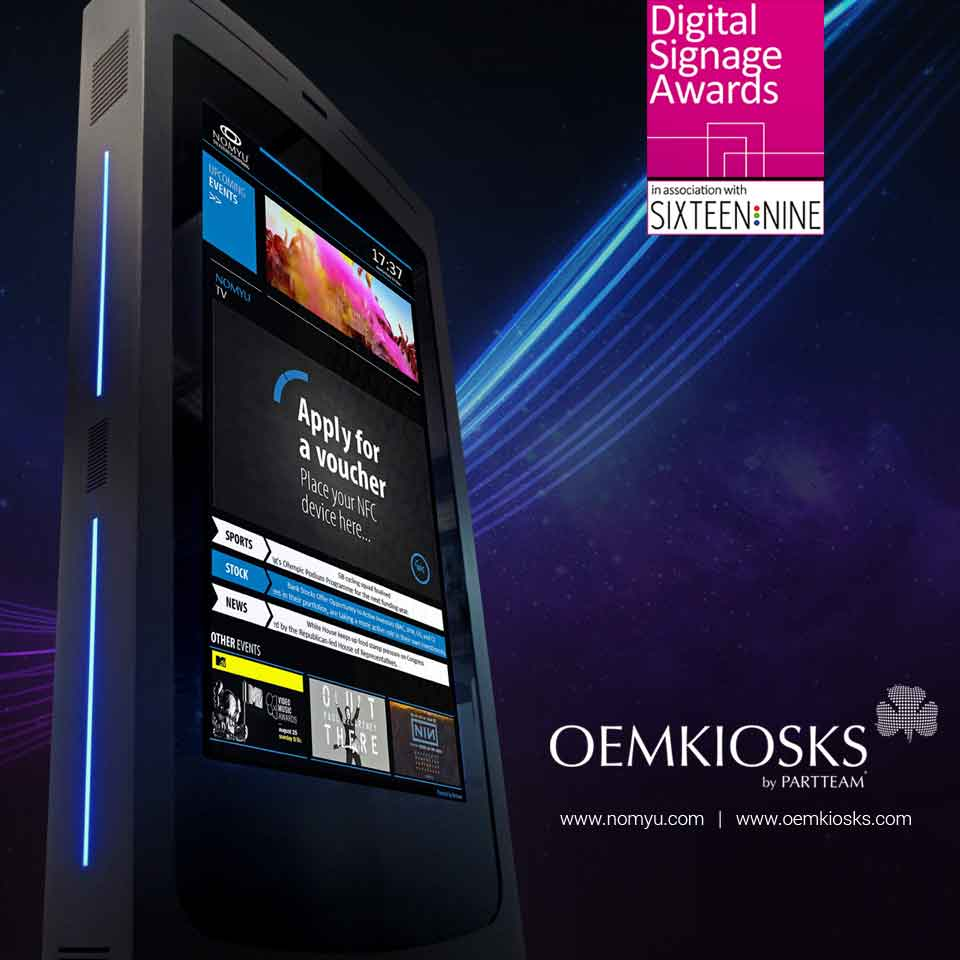 PARTTEAM & OEMKIOSKS is among the finalists of the Digital Signage Awards 2018 - DSA 2018