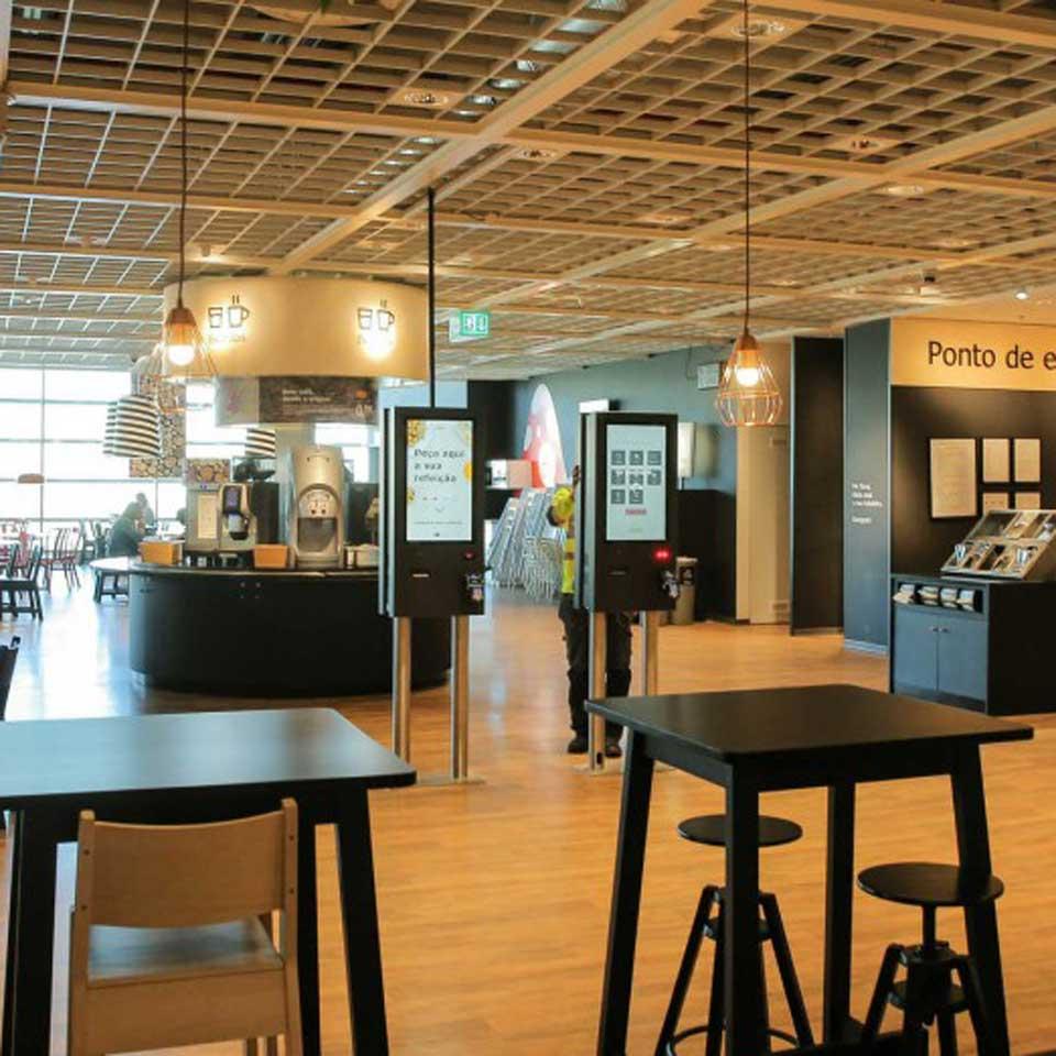 IKEA Loures modernizes restaurant concept with PARTTEAM & OEMKIOSKS self-service kiosks