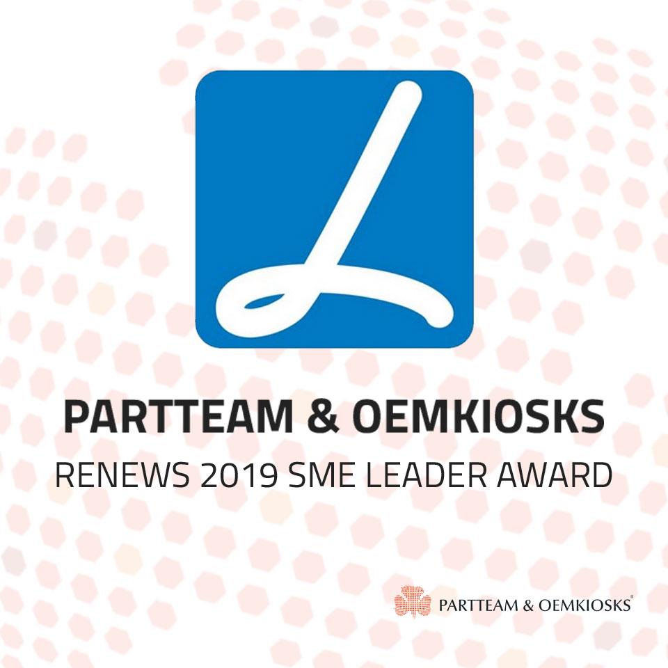 PARTTEAM & OEMKIOSKS renews 2019 SME Leader award