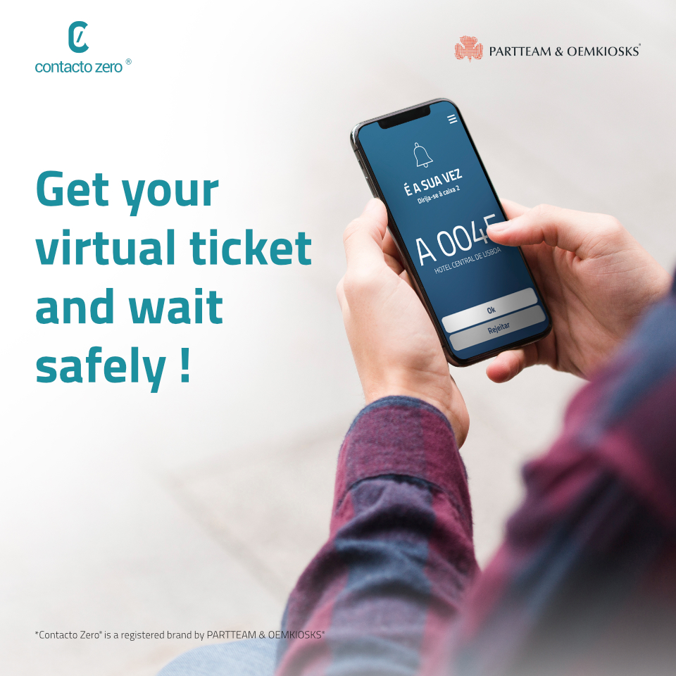 Get your virtual ticket and wait safely with SMS and QR Code QMAGINE reading service