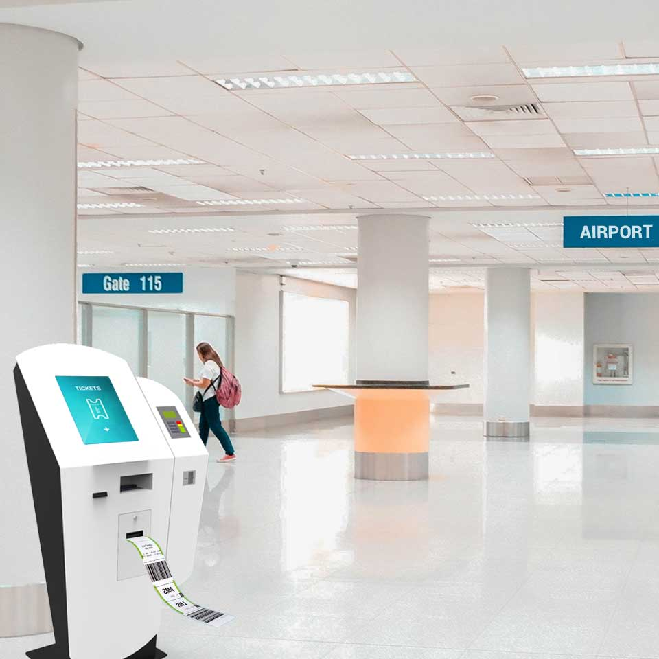 Quiosques Self-Service Bag Drop para Aeroportos