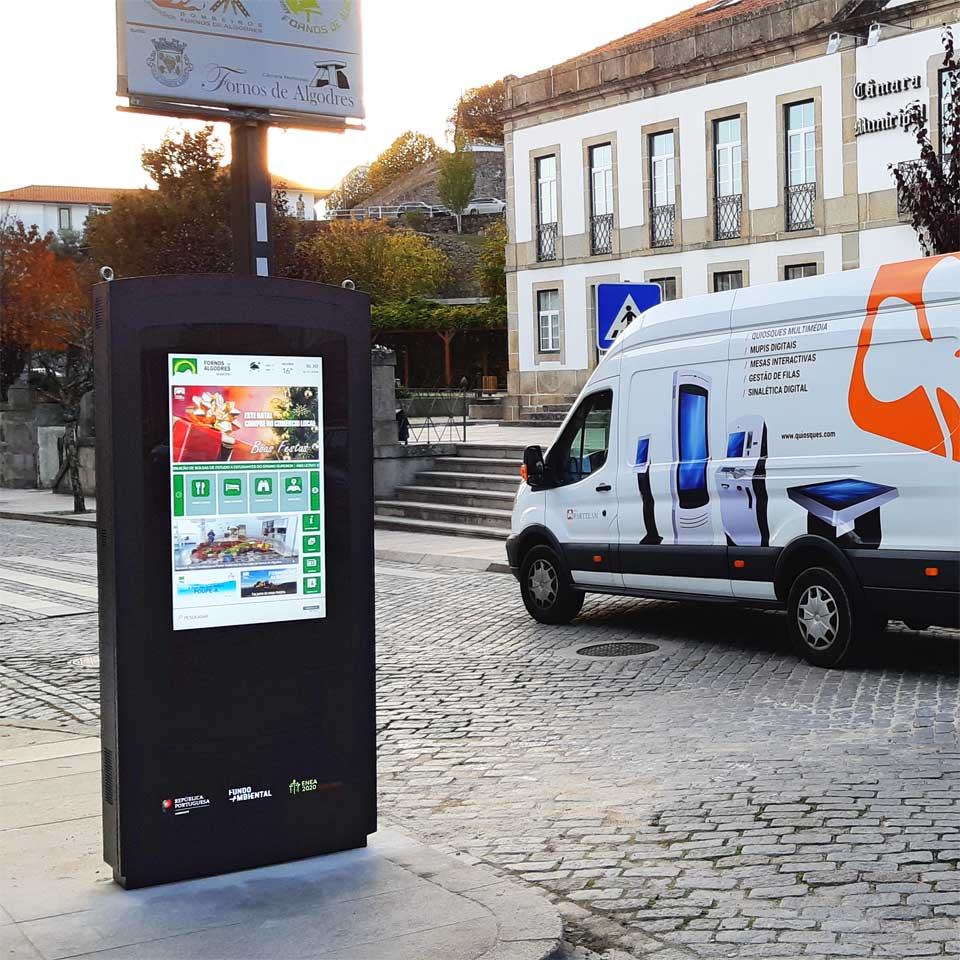 Interactive billboard for the Municipality Fornos de Algodres