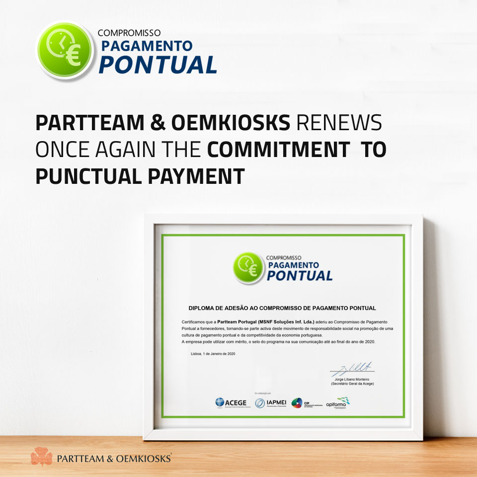 PARTTEAM & OEMKIOSKS Punctual Payment Commitment 2020
