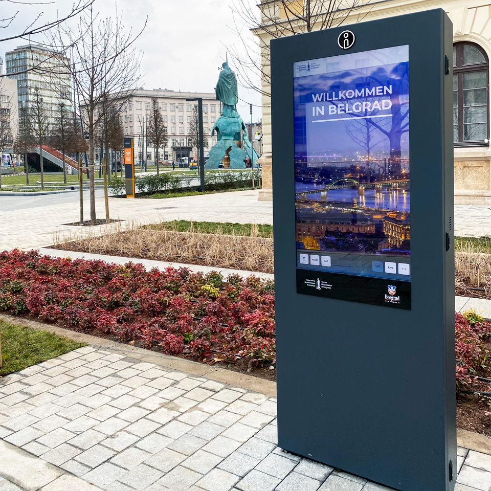 Digital billboard PLASMV contributes to tourism promotion in Serbia