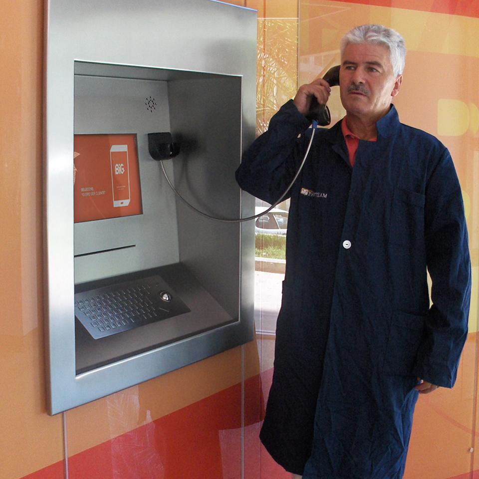 Homebanking kiosk for Banco BiG