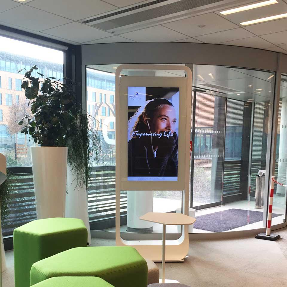 Digital Billboard for pharmaceutical company Sanofi - France