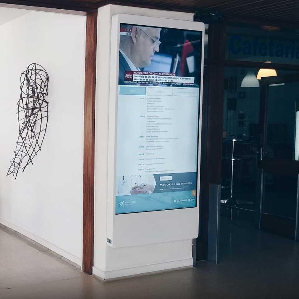 Digital Billboard Mediax customized for Hospital da Prelada