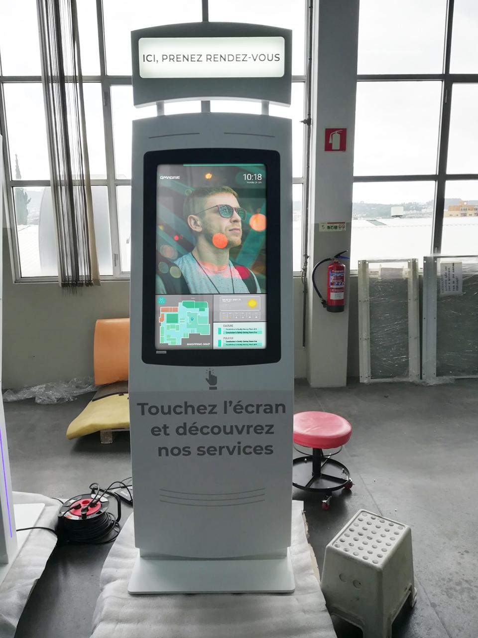 NOMYU multimedia kiosk travels to France to modernize postal service company