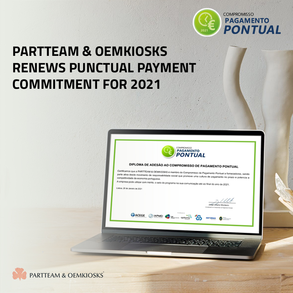 PARTTEAM & OEMKIOSKS renews Punctual Payment Commitment for 2021