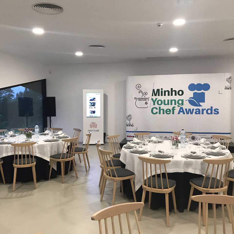 Digital Billboard at the Minho Young Chef Awards 2018 event