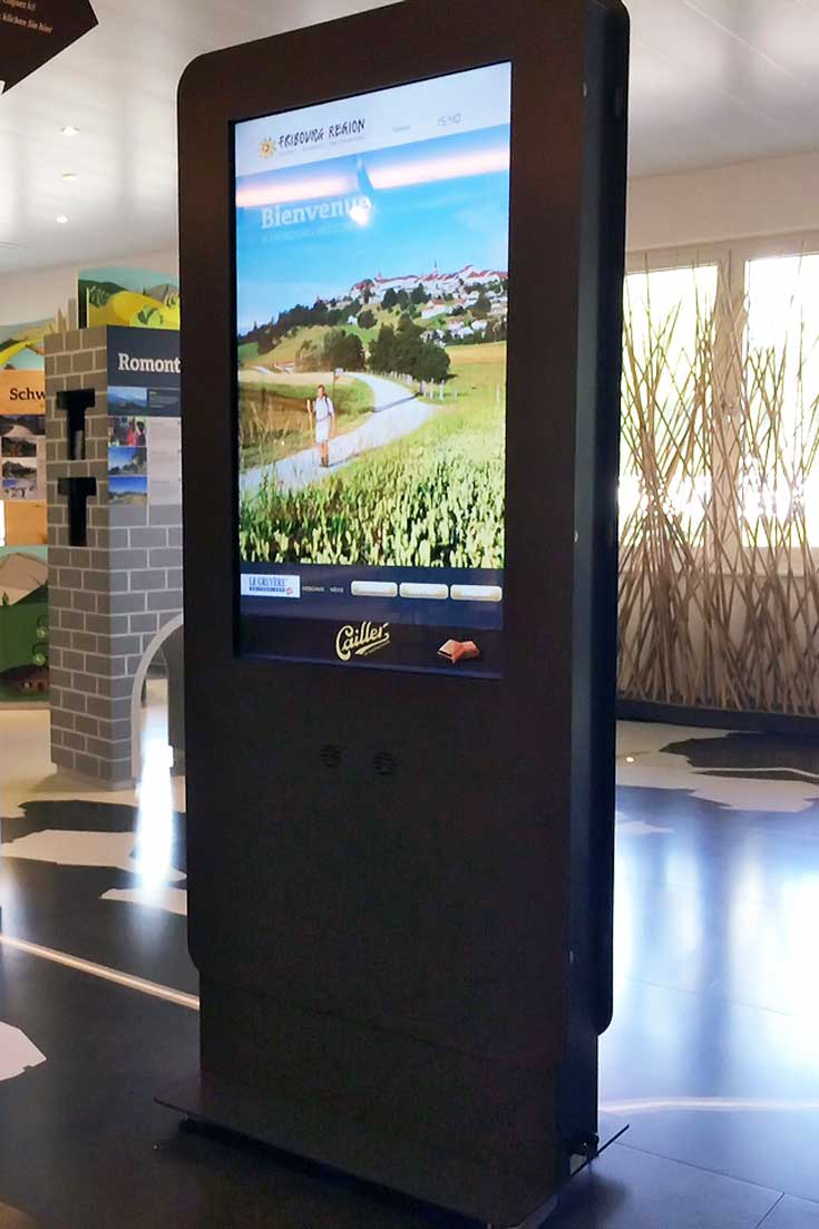 Digital Kiosk for Tourism promotes Region of Freiburg - Switzerland