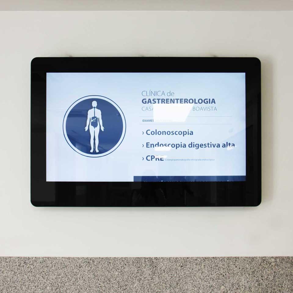 Casa de saude da boavista equipada com sinaletica digital