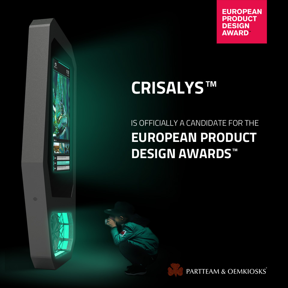 CRISALYS is a candidate for the European Product Design Awards