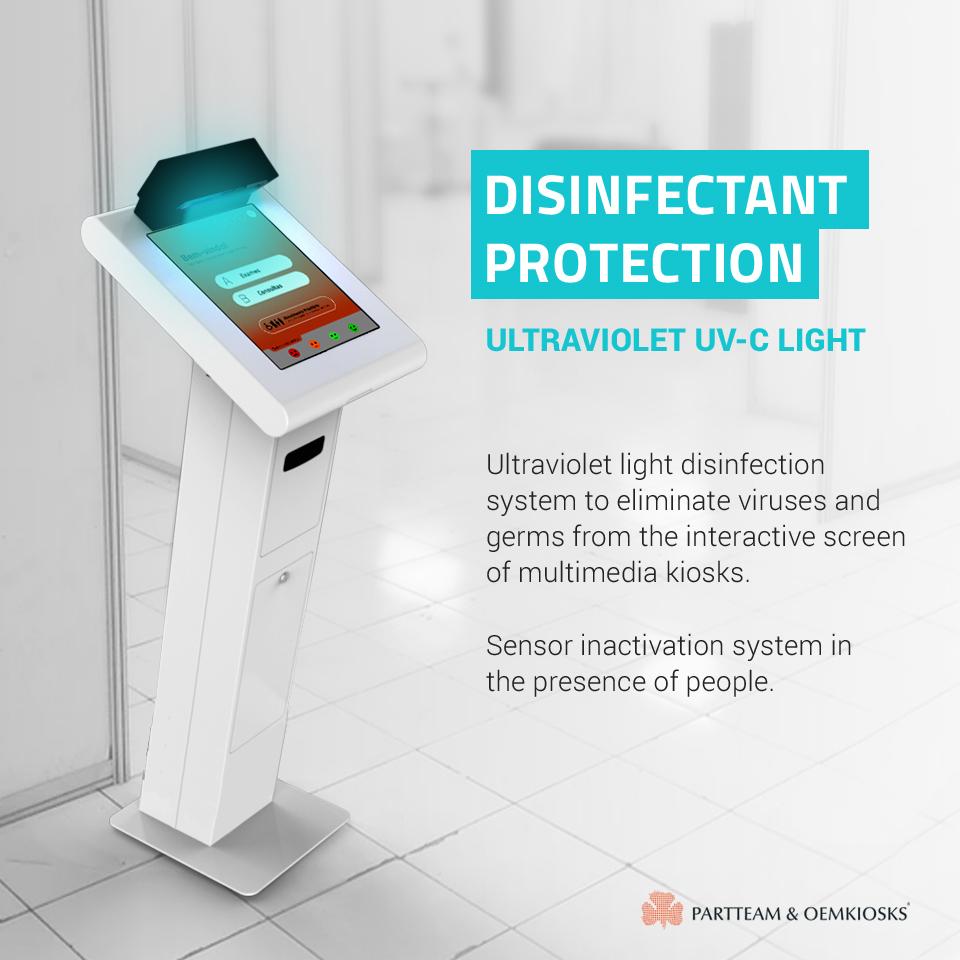 Desinfection protection through UV Light