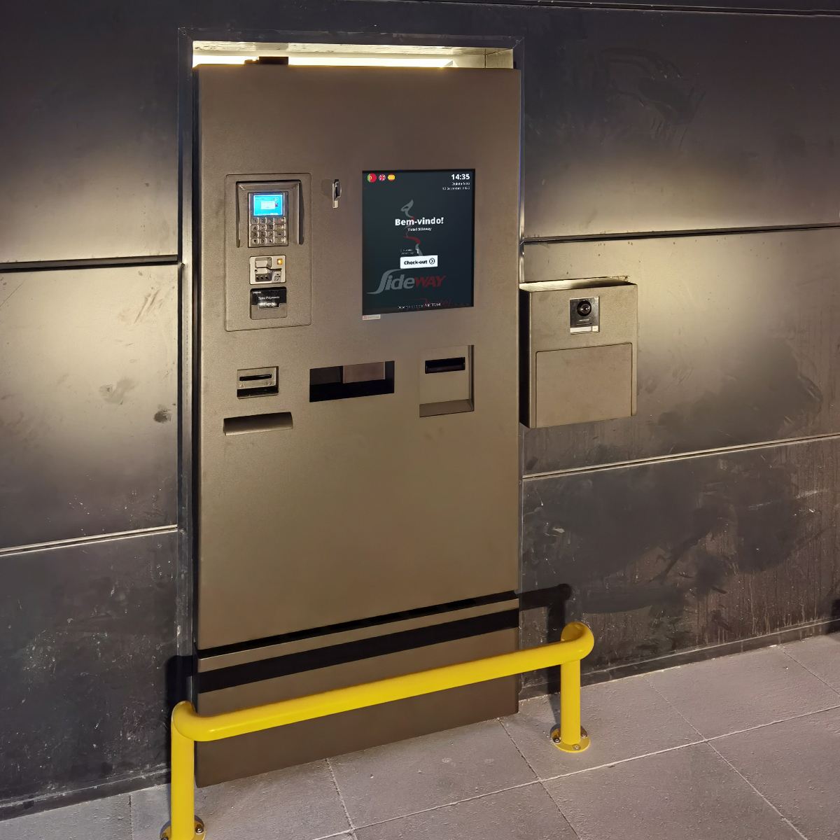 Sideway Motel uses PARTTEAM & OEMKIOSKS frictionless self-checkin and self-checkout kiosks for hotels