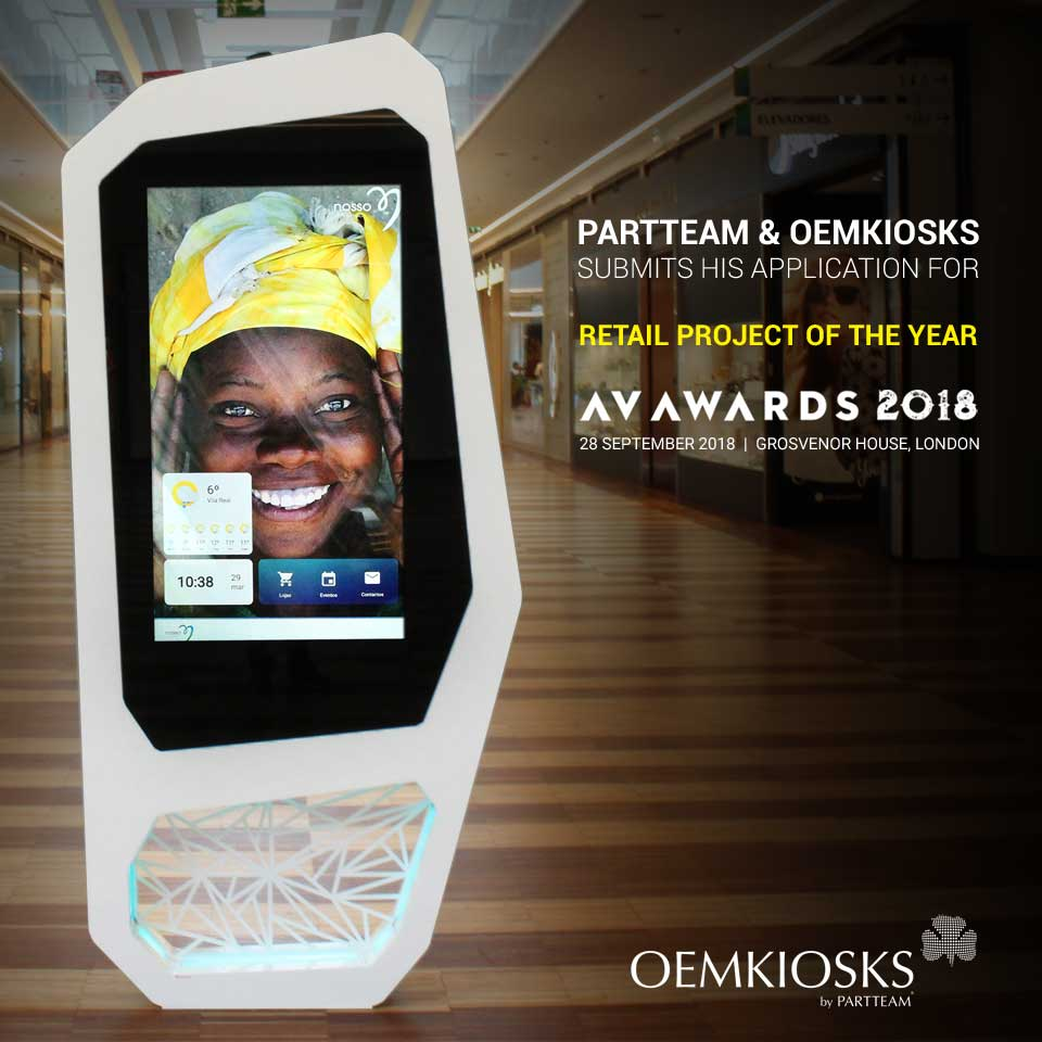 PARTTEAM & OEMKIOSKS presents its application for the AV AWARDS 2018