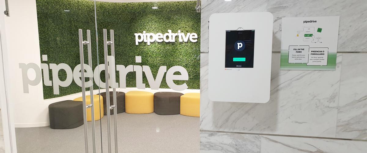 Installed kiosk in Pipedrive, Lisbon