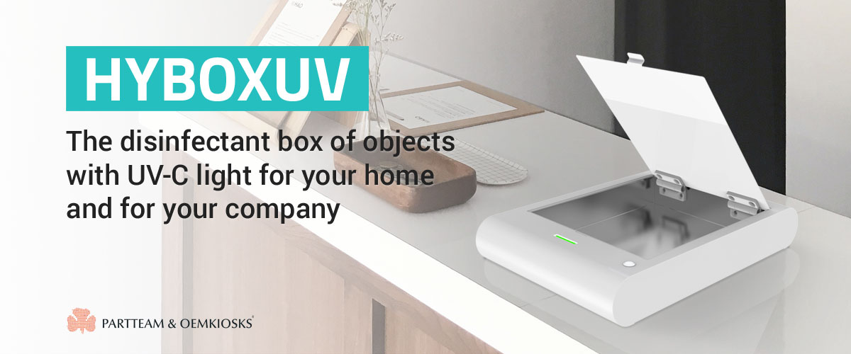 HYBOXUV: The disinfectant box of objects with UV-C light for your home and for your company