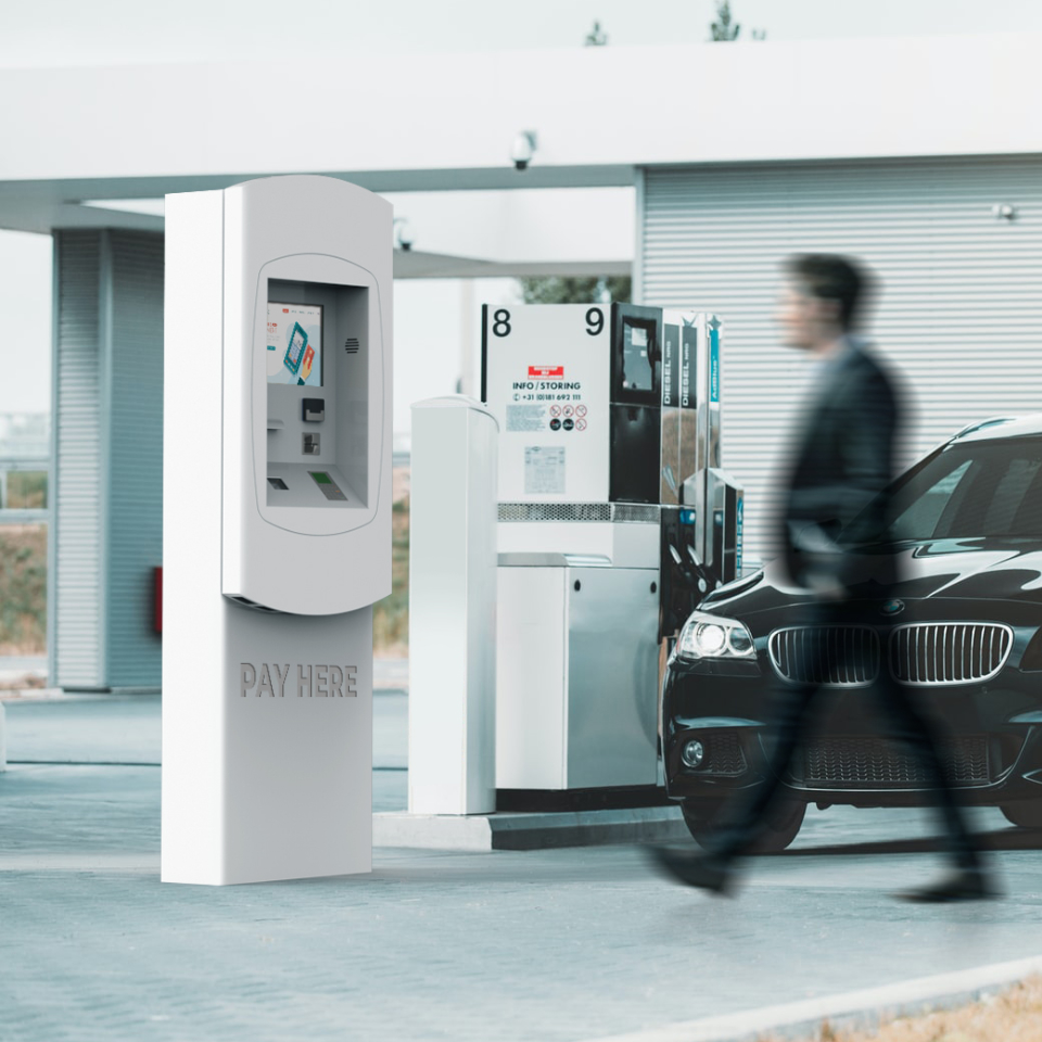 NOMYU STPUMP: The perfect self-service kiosk for payments at gas and service stations
