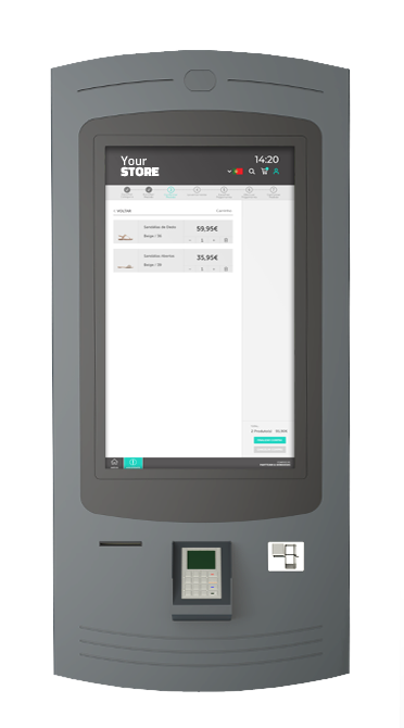 Self-service kiosks from PARTTEAM & OEMKIOSKS allow check-out in integration with Shopify