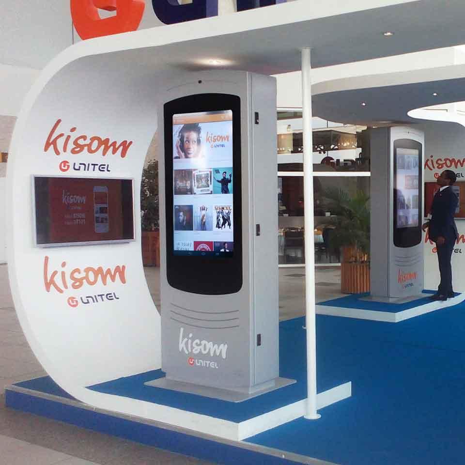 Digital Billboard NOMYU Simulate the application Kisom from Unitel