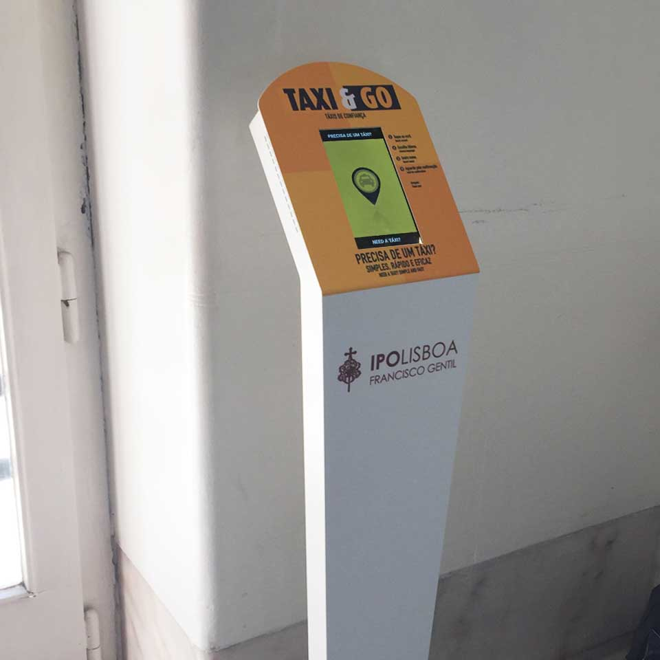 TAXI & GO : Call a taxi through multimedia kiosks by PARTTEAM & OEMKIOSKS