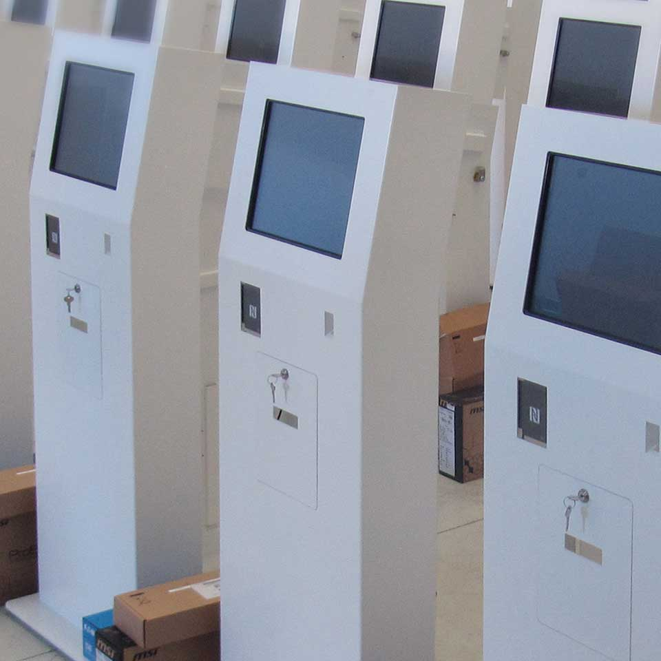 Large-scale production of interactive kiosks for Arabia