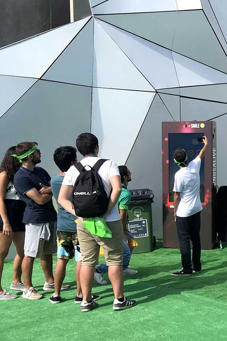 Mupis digitais PARTTEAM melhoram experiência no festival de música NOS ALIVE 2018