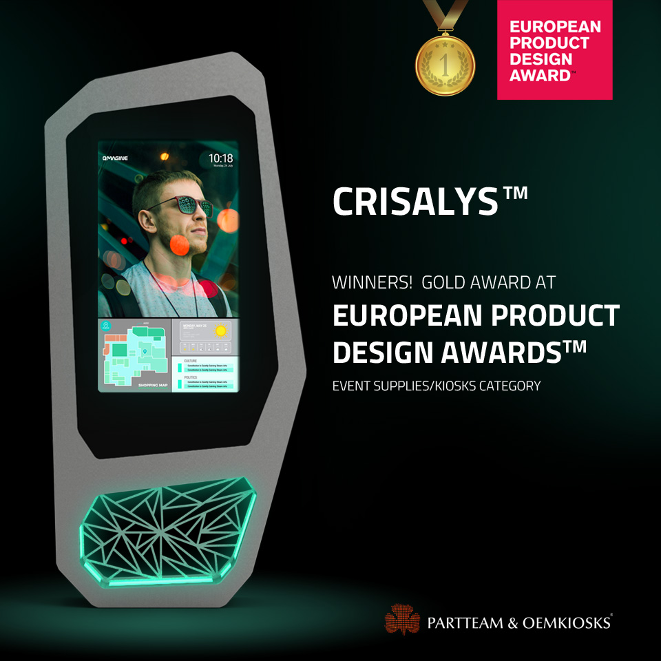 CRISALYS wins a prize at European Product Design Awards