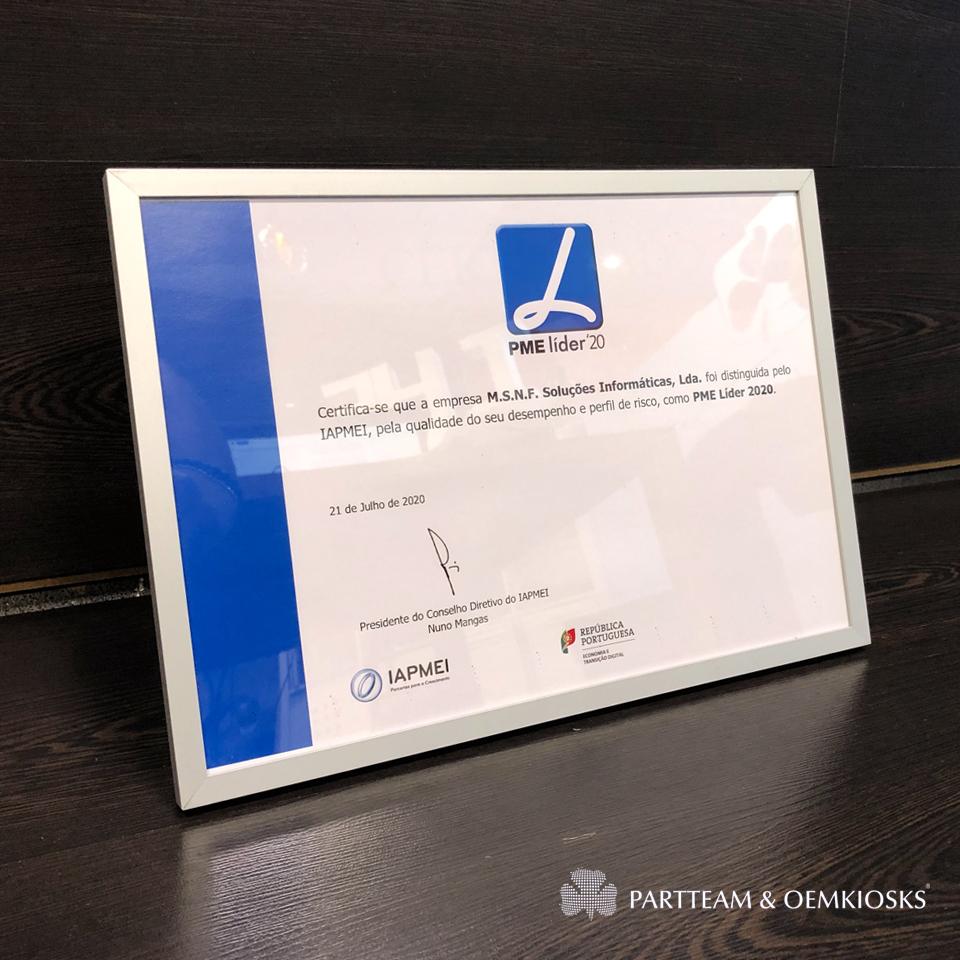 PARTTEAM & OEMKIOSKS renews 2020 SME Leader Award