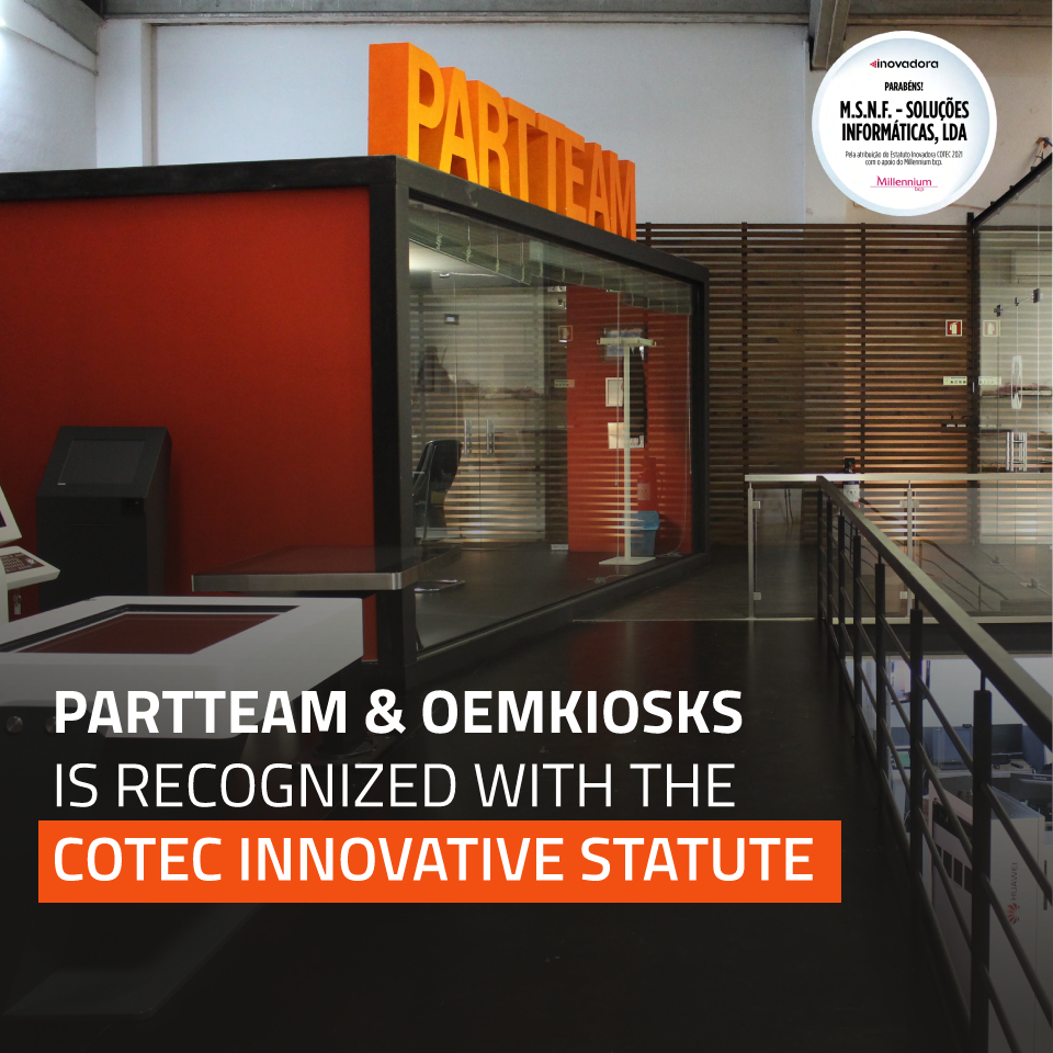 PARTTEAM & OEMKIOSKS is recognized with the COTEC Innovative Statute