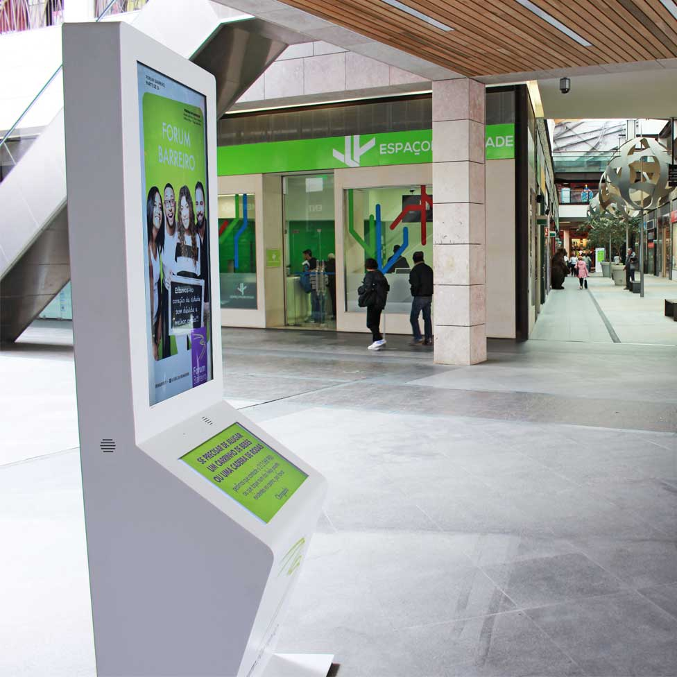 Forum Barreiro: Digital signage to communicate in the timing of the purchase