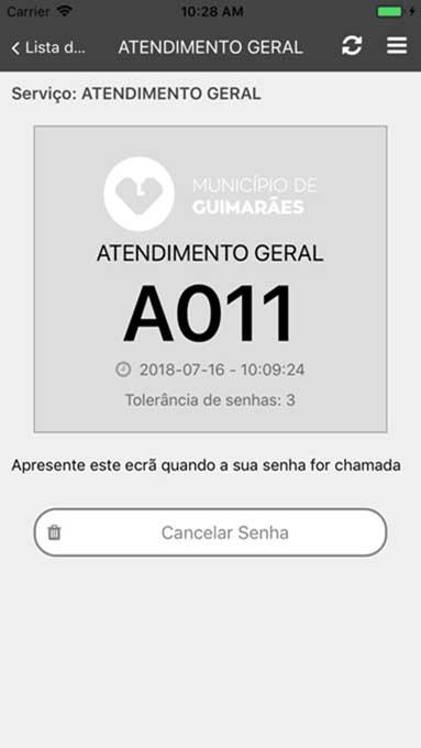 Guimarães Cityfy: Emissão de senhas à distância - Gestão de filas QMAGINE by PARTTEAM