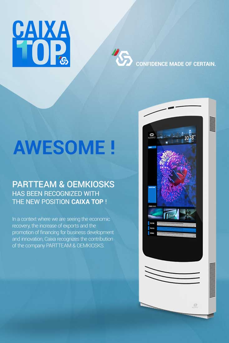 PARTTEAM & OEMKIOSKS has been recognized with position CAIXA TOP
