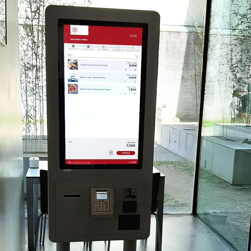 University of Minho: Self-Service catering kiosks for the Social Services