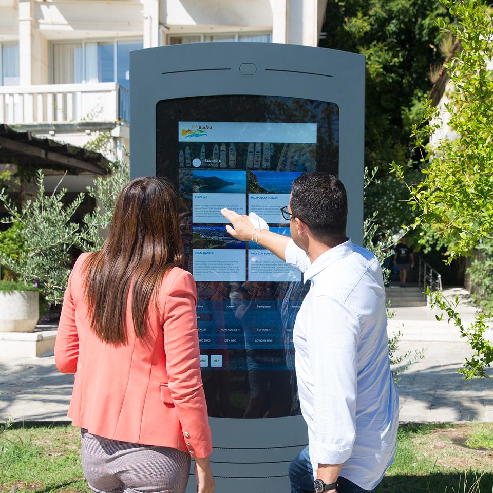 Digital Billboard NOMYU for outdoor promotes tourism in Budva, Montenegro