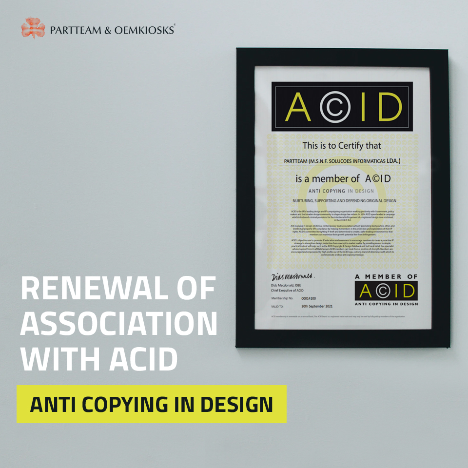 PARTTEAM & OEMKIOSKS renews association with ACID – Anti Copying in Design