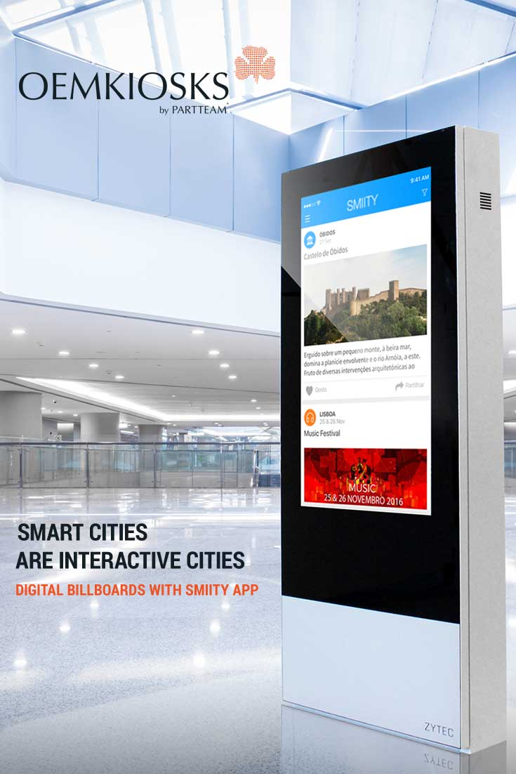 Smart Cities: PARTTEAM & OEMKIOSKS Digital Billboards with the SMIITY app