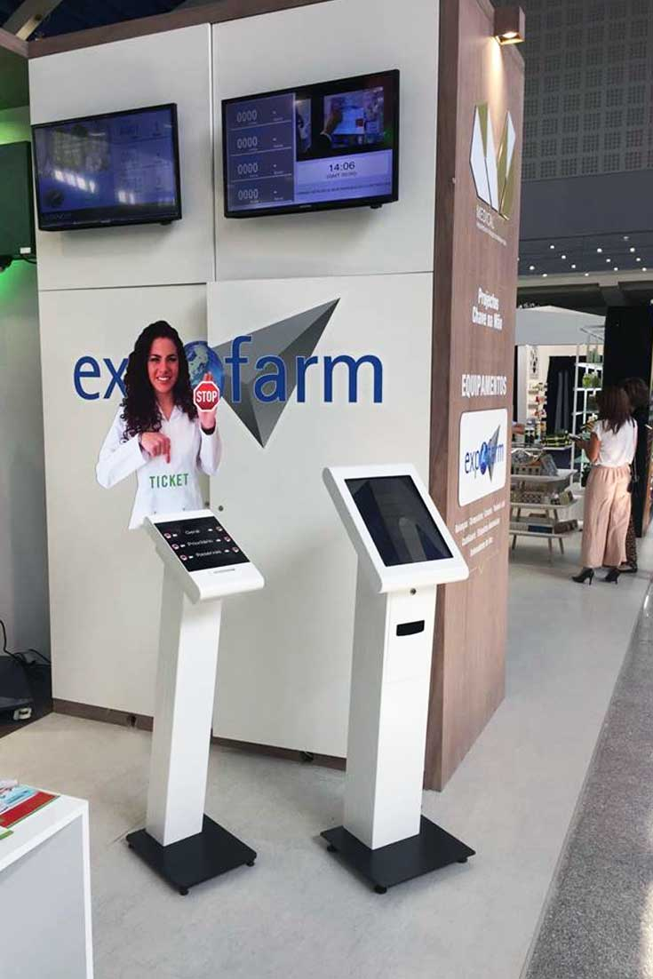 EXPOFARMA 2017: Queue Management System QMAGINE by PARTTEAM