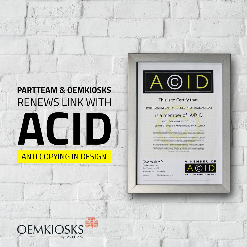 PARTTEAM & OEMKIOSKS renews link with ACID - ANTI COPYING IN DESIGN