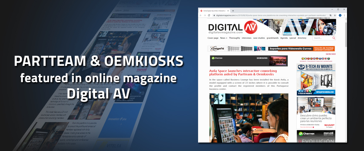 PARTTEAM & OEMKIOKS featured in online magazine Digital AV