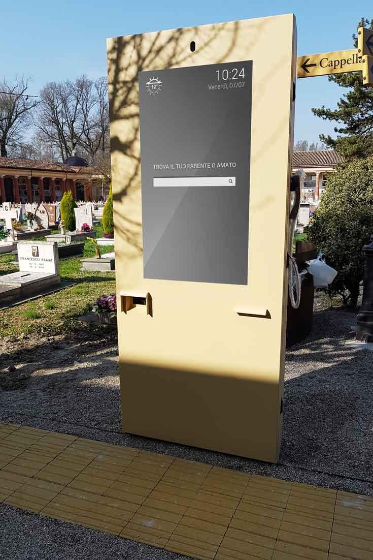 Digital Billboard in Italian Cemetery