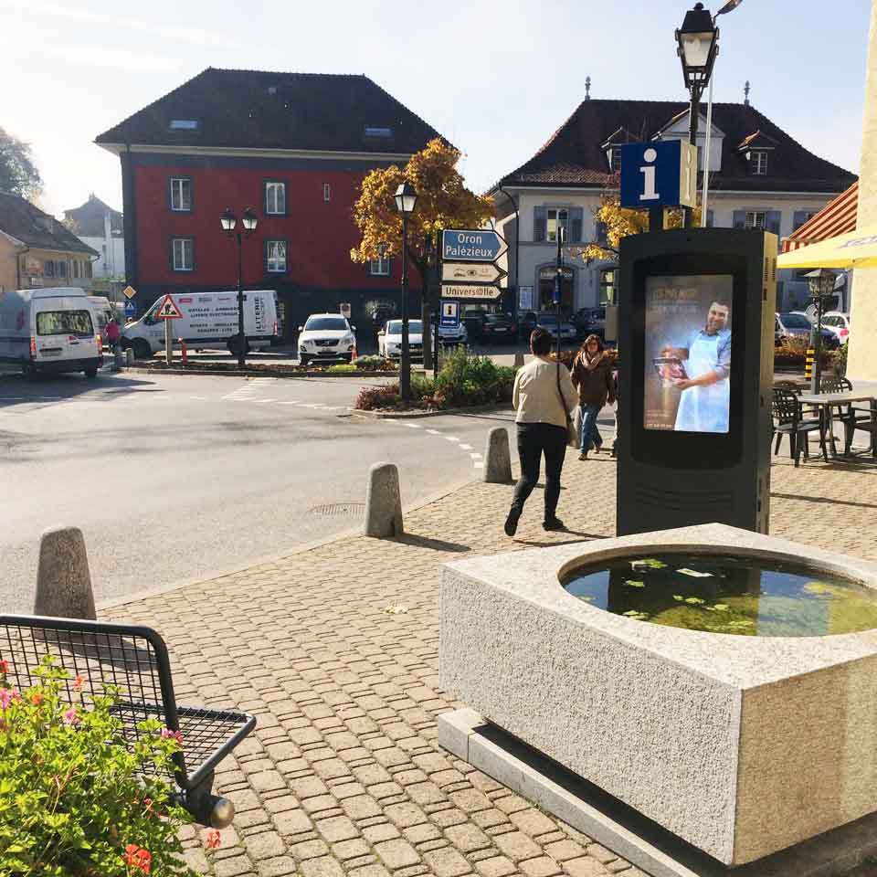 Interactive digital billboard promotes tourism in Switzerland