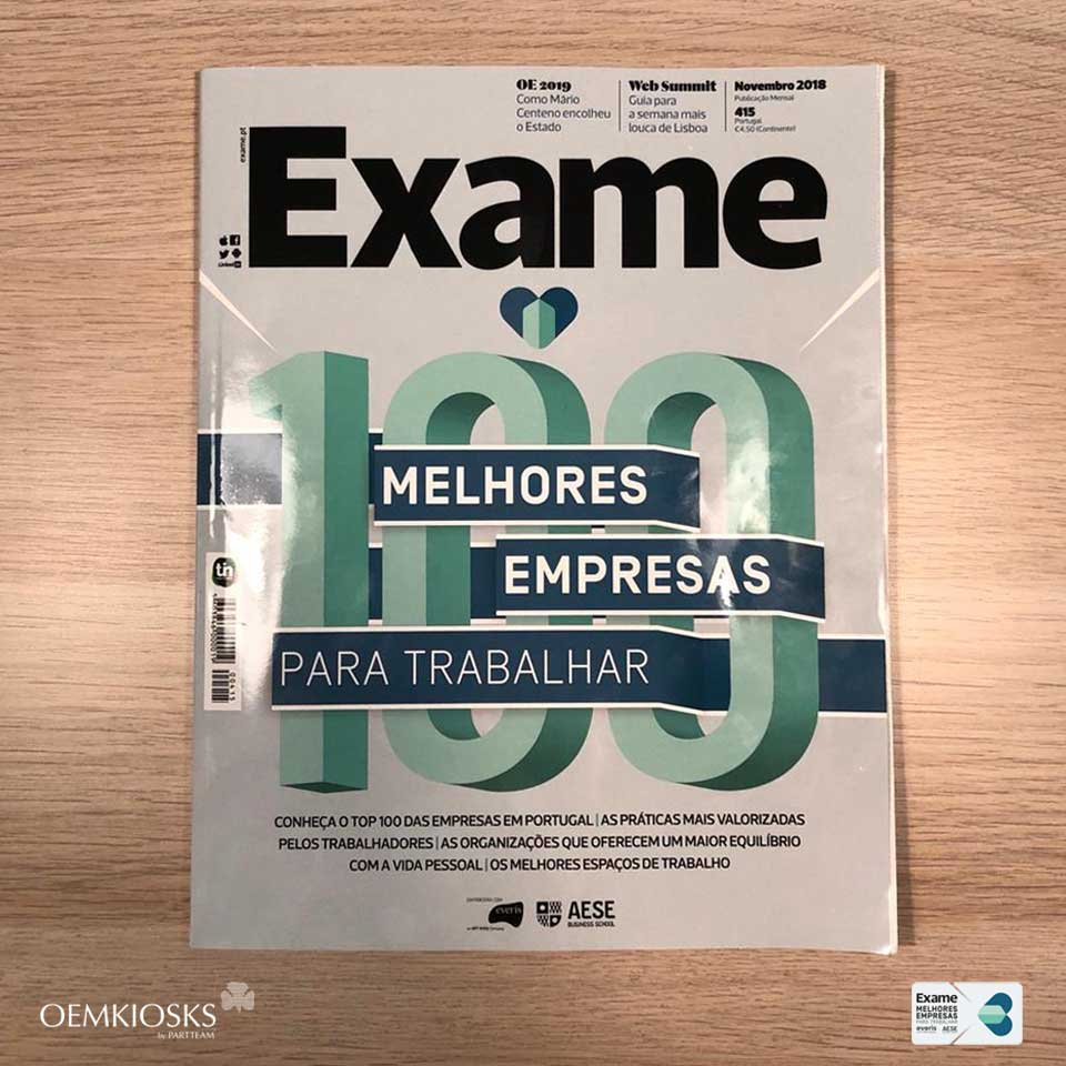 PARTTEAM & OEMKIOSKS is one of the 100 BEST COMPANIES TO WORK IN PORTUGAL